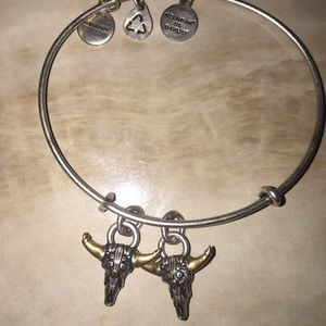 Alex and Ani Double Spirited Skull *RARE*